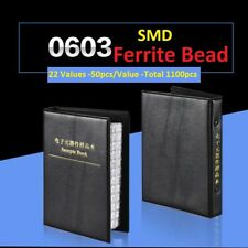 0603 SMD/SMT Ferrite Bead Samples Book Assorted Kit Component 22 Values