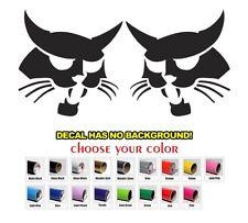 Set Of Bobcat Face Logo Skid Steer Set Vinyl Decal Sticker Aftermarket