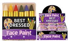 6 Crayons Face Paint Make-up Kids Children Halloween Hand Colour Dress Up Sticks