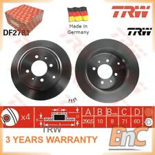 2x REAR BRAKE DISC SET PEUGEOT TRW OEM 4246T7 DF2781 GENUINE HEAVY DUTY