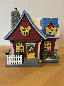 DEPARTMENT 56 DISNEY MICKEY'S CHRISTMAS HOUSE 2019 house only *BROKEN* See Photo