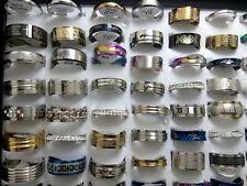 50 X mix desgin Women men's  Stainless steel rings  jewelry wholesale lots