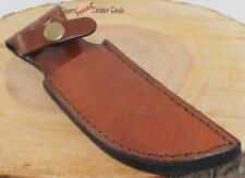 "5"" Leather Belt Sheath Skinning Hunting Knife"