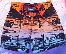 Vilebrequin Mens Swimming Shorts Moopea Calanques Print Size XL UK 34/36 Orange