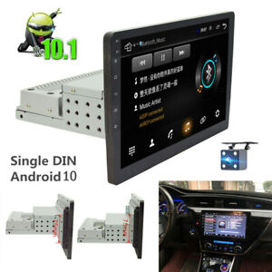 """Single DIN 10.1"""" Touch Screen Android 10.1 Car Stereo Radio GPS WiFi Mirror Link"""