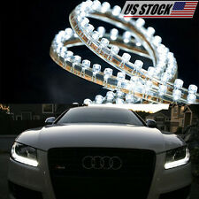 2 pc Waterproof Led Strip Digital Bulb Diode Lamps For Car drl Lighting Tape Bar (Fits: Rabbit)