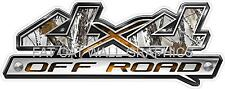 "Truck Bed Decals 4x4 Snow Camo 4"" x 12"" Laminated with UV Coating 5 Year Vinyl"
