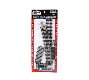 "Atlas #540  Left Remote Snap Switch - 18"" Radius Turnout - HO - Code 83 Rails"