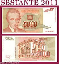 YUGOSLAVIA  5.000  5000 DINARA 1993  SERIE AA  P  128   FDS / UNC PERFECT