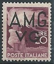 1945-47 TRIESTE AMG VG DEMOCRATICA 20 LIRE MNH ** - ED395