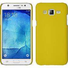 Custodia Rigida Samsung Galaxy J7 - gommata giallo + pellicola protettiva