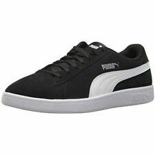 PUMA Men's Suede Smash V2 Sneaker - Black/White/Silver, US 12