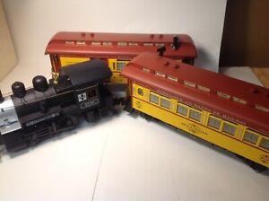 Aristocraft Train Santa Fe 0-4-0T Steam Loco 209 Sierra Passenger & Combine Cars