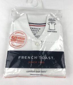 Frech Toast School Uniform Girls White Polo Shirt Sleeve NWT Size 3T