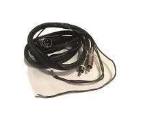 1,25m vintage SME Phono Audio Interconnect Cable, RCA, 5-pin DIN connectors