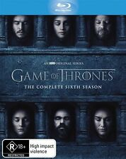 Game Of Thrones : Season 6 (Blu-ray, 2016, 4-Disc Set)(Region B) Aussie Release