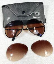 PORSCHE DESIGN Vintage Sunglasses with Extra Lenses by OPTIMUS 1970´s BLACK
