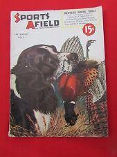 1937 September Sports Afield Magazine Black Marlin, Africa Hunting, Deer Hounds