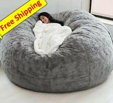 giant Microsuede Fur 7ft foam Cover Bean Bag Sofa Coat Lazy Chair Seat Game Bags