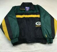 Pro Player Men's L Large Winter Insulated Jacket NFL Green Bay Packers Vintage