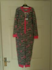 BNWT GIRLS CLOTHES ONE DIRECTION ALL IN ONE SLEEPSUIT PYJAMAS AGE 7-8 YRS
