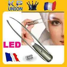 PINCE A EPILER LUMINEUSE ECLAIRAGE LUMIERE LED, EPILATION DE SOURCILS VISAGE 48h