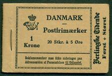DENMARK (HRE7) 1929 Berlingske Tidende booklet, VF