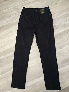 M&S Autograph Ladies High Rise Slim Denim Jeans UK 8W 27L BNWT R.R.P £45