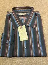 Remus Uomo Regular Fit Striped Shirt/Black  - XXL