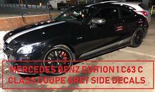AMG Edition 1 C63 Side Stripe Gris decals-Mercedes Benz Classe C Coupé C205