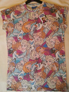 ADULT Ladies DISNEY FROZEN Anna, Elsa & Olaf COLLAGE T shirt from PRIMARK