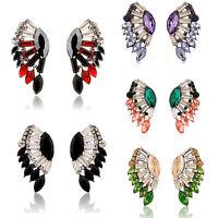 Elegant Women Rhinestone Resin Crystal Ear Stud Eardrop Earring Fashion Jewelry