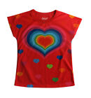 Happy red heart girls T-shirt:: Designed by deezo :: free delivery