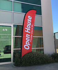 3.5m Open House Flag / Real Estate Advertising Flag Banner - Ready to Ship!