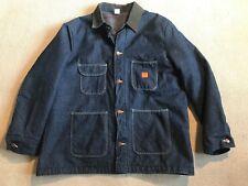 Big Ben Men's Denim Button Front Jacket Corduroy Trim Lined Sz 48 #D10