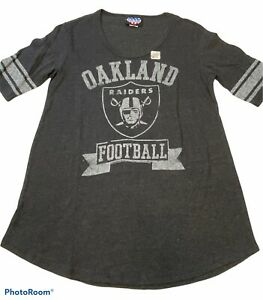 NWT JUNK FOOD ORIGINALS Oakland Raiders Jersey T-Shirt Retro Style Size Large