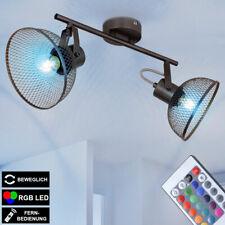 RGB LED Luz Techo Control Remoto Jaula Foco Reflector Móvil Lámpara Regulable