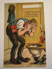 Humor mit Toilette - Schön san's die Waschschüsseln aber unpraktisch / AK