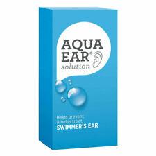 AQUA EAR DROPS 35ML SOLUTION HELPS TREAT & PREVENT SWIMMER'S EAR SWIMMERS EAR