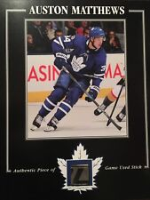 AUSTON MATTHEWS TORONTO MAPLE LEAFS GAME USED STICK 8 X 10 COA