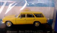 MERCEDES BENZ 220 D (1972) Unforgettable Cars 1:43 Diecast # 62 SALVAT ARGENTINA