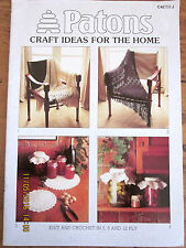 ~PATONS BOOK No. C42-CRAFT IDEAS FOR THE HOME-HOMEWARES, SHAWLS, JAR TOPS + MORE