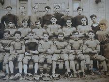 Orig 1910s B&W Sepia Photograph Boys Gentlemen Football Team Player