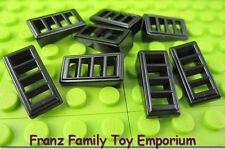 New LEGO Lot of 8 SLOPE Black 2x1x2/3 Technic Grille Vent Brick Part 61409