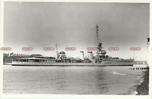 "Original Photograph Royal Navy. HMS ""Cairo"" Cruiser. Sunk WW11. Fine! 1930"