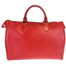 Authentic LOUIS VUITTON Speedy 30 Travel Hand Bag Epi Leather Red M43007 32MB060
