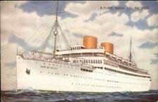 RMMV Steamship Reina Del Pacifico Salmon Series Postcard