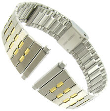 18-22mm Milano Two Tone Stainless Steel Center Clasp Watch Band 23770