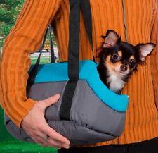 Accessoires animaux : sac de transport en tissu pour petit chien ou chat - bleu