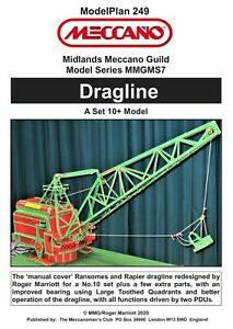 Meccano Model Plan - Dragline